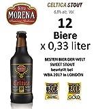 12 X Birra Morena Celtica Stout 6,8 % alc vol CL33 Besten Bier der Welt Sweet Stout Geschmack Karamell Vanille Schokola Bier Handwerker Craft Beer Italienisches Preisgekröntes Geschenk Weihnachten Os (12)