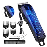 BESTBOMG Professional Cordless Rechargeable Hair Clippers for Men Beard Trimmer Home Hair Cutting