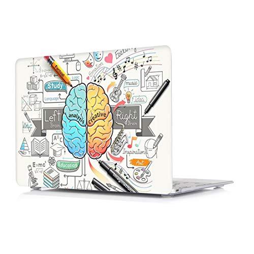 Coque MacBook Pro 13 2018 & 2017 & 2016 (Modèle: A1989, A1706 et A1708) - Coque de protection dure L2W, revêtement en plastique recouvert de caoutchouc en plastique pour Macbook Pro 13 pouces avec / sans barre tactile et ID tactile - Cerveau créatif
