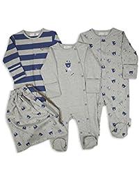 The Essential One - Baby Jungen Schlafanzuge/Schlafanzug/Einteiler/langarmeliger Body/ Strampler (3-er Pack) - ESS137