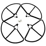 SODIAL(R) Upgrade Propeller Prop Guards Protectors Bumpers for Hubsan H501S H501C Drone RC Quadcopter Spare Parts (Black)