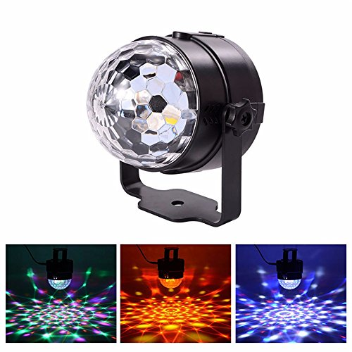 Light Crystal Strobe (ZjRight Disco Lichter Crystal Magic Rotierende Ball Lichter Strobe Lichter DJ Lichter Bühnenlicht LED Lichter Glitzer Ball Party Lights 3W 7 Farbveränderungen LED RGB Home Geburtstagsfeier KTV Bar Bühne Hochzeit Feier)