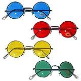 4 verschiedene 70er Jahre Flower Power Hippie Brille farblich passendes Gestell Bild