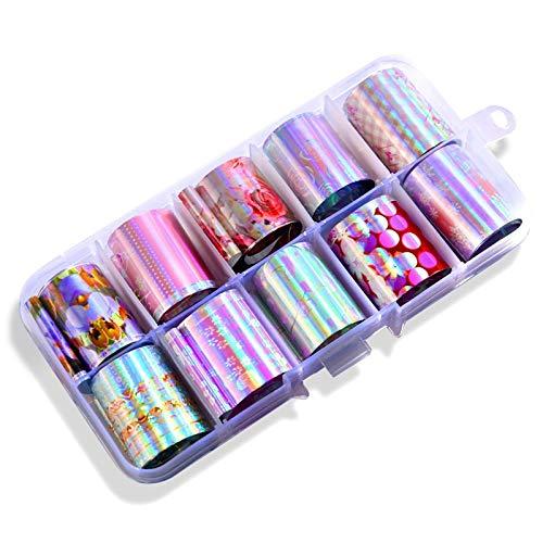 el Stern Paste Farb übertragungs Film UV Gel Nagel Aufkleber Nagel Diy Kunst Dekoration 2,5X100 cm 19# ()
