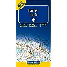Kümmerly & Frey Karten, Italien, Doppelkarte Nord und Süd (Kümmerly+Frey Strassenkarten)