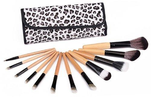 Davidsonne Professionnel Fond de Teint Poudre Blush cosmétiques pinceau de maquillage ensemble léopard (12)