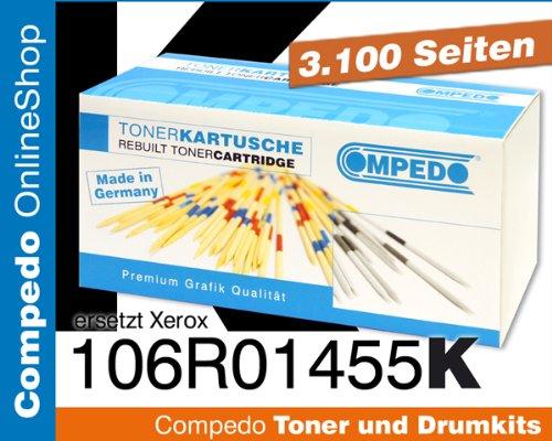 6128mfp/n Phaser (Compedo Premium Toner black/schwarz (3.100 Seiten) ersetzt 106R01455 für Xerox Phaser 6128, 6128MFP, 6128MFP/N u. a.)