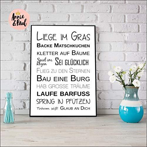 Print 'Liege im Gras' -