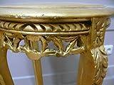 Beistelltisch Tisch rund Antik Stil Barock AlTa0332GoFS - 5