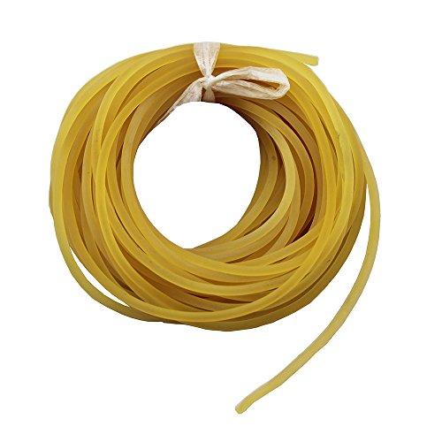 Mangobuy UP100 Ligne de pêche de 10 mètres, diamètre 2 mm/2.5 mm/3 mm/3.5 mm, unie, solide, classique, en caoutchouc élastique, Red, 3 mm