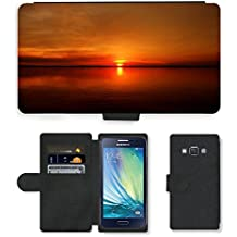 GoGoMobile PU LEATHER case coque housse smartphone Flip bag Cover protection // M00421675 River atardecer Amazon Crossing // Samsung Galaxy A3 SM-A300 (not fit S3)