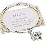 """Rosemarie Collections Damen-Armband / -Armreif, mit englischer Beschriftung """"Sister is a Gift"""""""