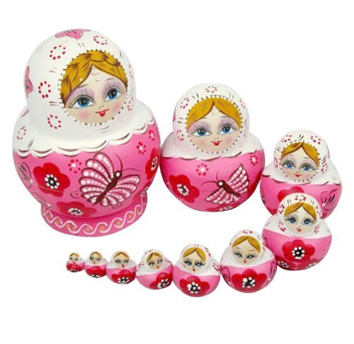 nuoya001-10pcs-new-beautiful-pink-wooden-russian-nesting-dolls-gift-matreshka-handmade