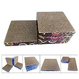 Sakuldes Cat Scratch Board Wellpappe Katzenkratzbrett Cat Claw Toy Pet Supplies (Color : Blue, Size : 25x25x20CM)
