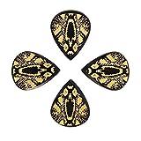 Timber Tones Lot de 4 médiators avec motif serpent