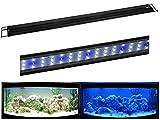 R-120 LED Aquariumlampe für 120-135cm Aquarien Beleuchtung Aufsetzleuchte Leuchte Klemmleuchte Mondlicht blau/weiß
