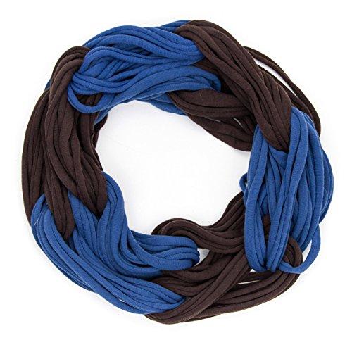 MANUMAR Loop-Schal für Damen einfarbig | feines Hals-Tuch in braun blau als perfektes Herbst Winter Accessoire | Schlauch-Schal | Damen-Schal | Rund-Schal | Geschenkidee für Frauen und Mädchen