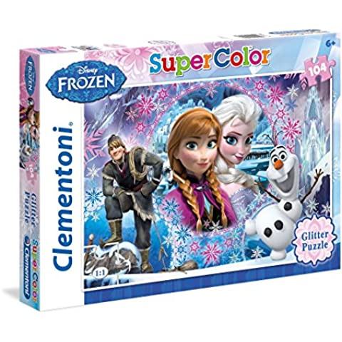 Clementoni 27248 - Frozen: Queen Of The Mountain, Puzzle Glitter, 104 Pezzi