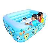 ZHAORU-Badewanne Kinder Übergroßen Wasserpark Baby Pool Home Baby Aufblasbare Erwachsene Verdickung Familie Kids Pool Blue Bubble Bottom (Größe : 140cm)