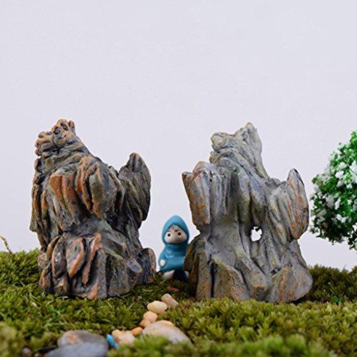 Resina Giardino Roccioso Micro Paesaggio Mestiere Roccia Colline Artificiali Decor