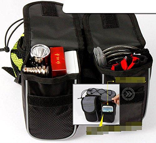 OGTOP Mountainbike Fronttasche Satteltasche Handy Werkzeug Wasserdichte Verpackung Black