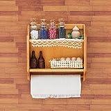 Odoria 1/12 Miniatur Möbel Küchen Hängeschrank Wandschrank mit Flaschen Tassen und Eier Holz Braun Für Puppenhaus Möbel Zubehör