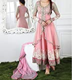 Deeprekha Impex Girls's Latest Designer Embroidered Salwar Suit Material with Dupatta