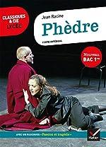 Phèdre (Bac 2020) - Suivi du parcours d'histoire littéraire sur la tragédie au XVIIe siècle de Racine