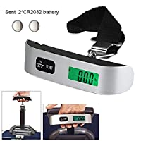 Digital Hanging Luggage Scales - Portable Handheld Travel Scale LCD 50kg/110lb For Luggage, Suitcase , Baggage