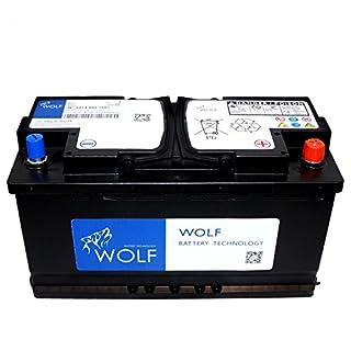 Autobatterie Wolf AGM 12V 90Ah 900A Start Stop Gel Versorger Batterie EN / AEG / GS