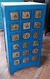 Antiker Apothekerschrank Aktenschrank Büroschrank Apotheke Schrank Sideboard Kommode Kommodenschrank Sideboardschrank mit 18 Schubladen Breite45xHöhe1118cm