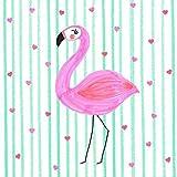 Braun und Company GmbH Serviette Flamingo in Love 5 Stück
