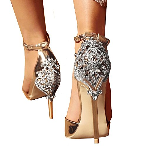 73e903285 Mosstars Zapatos de tacón Mujer Fiesta Summer Fashion Luxury Diamond High  Heel Sandalias Mujer Fiesta Tacones