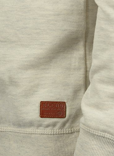 BLEND Alex Herren Sweatshirt Pullover Sweater mit Rundhalskragen aus hochwertiger Baumwollmischung Sand Mix (70810)