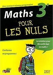Maths 3e pour les nuls