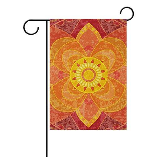 MUMIMI Mandala - Bandera decorativa de doble cara para jardín (28 x 40 cm)