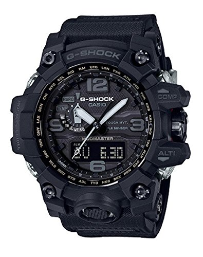 Casio G-Sock GWG1000-1A1 Mudmaster Black Tough Solar Triple Sensor GWG-1000-1A1