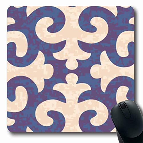 Beachwear Muster (Luancrop Mauspads für Computer Trockene asiatische Shyrdak-Lilie Alle Filz Muster Strand Beachwear Camo Camoflage Teppich rutschfeste längliche Gaming-Mausunterlage)
