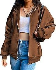 Women Y2K Zip Up Hoodie Long Sleeve Portrait Print Hooded Skeleton Jacket Harajuku Pullover Sweatshirt with Po