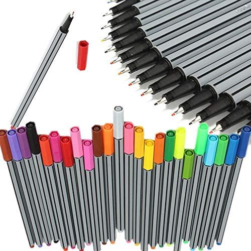 Kostüm Und Lehrer Für Einfache Schnelle - Mark Pen 24 Stück/Set 0,4 mm 24 Farben Marker Stifte Kid Ink Arts Malstifte Schreibwaren