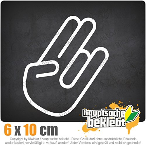 The Shocker Hand 10 x 6 cm JDM Decal Sticker Aufkleber Racing Die Cut (Hand-aufkleber)