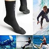 Calze in neoprene da 3 mm per gli sport acquatici comode da indossare per le donne e gli uomini - Calze da snorkel Calze da sub per immersioni subacquee, snorkeling, paddle, imbarco, moto d'acqua
