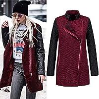 968ac9b6d62b Fuibo Damen Mantel Outwear, Frauen Schlank Winter Revers Lange Mantel  Trench Parka Jacke Mantel Outwear