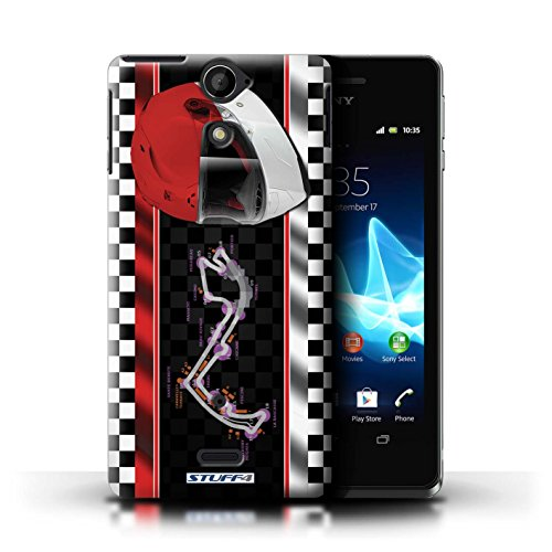 Kobalt® Imprimé Etui / Coque pour Sony Xperia V/LT25i / USA/Austin conception / Série F1 Piste Drapeau Monaco/MonteCarlo