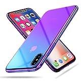 Für Iphone X Hülle, RAXFLY Bunte Transparent Handyhülle Ultra dünne Schutzhülle für iPhone X/iPhone 10 - Lila