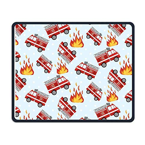Fire Truck Fire Wallpaper Office Rectangle Non-Slip Rubber Mouse Pad Retro Gaming Mouse Pad for Laptop Displays Tablet Keyboard (2 Wallpaper Dota)