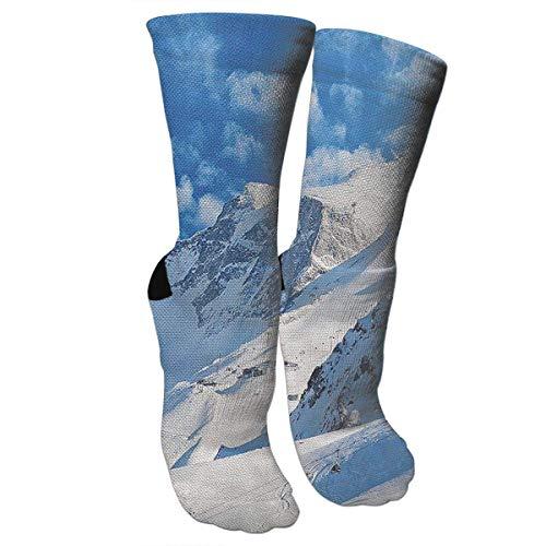 CVDGSAD Mountain Landscape Ski Knee High Graduated Compression Socks Tube Socks for Unisex
