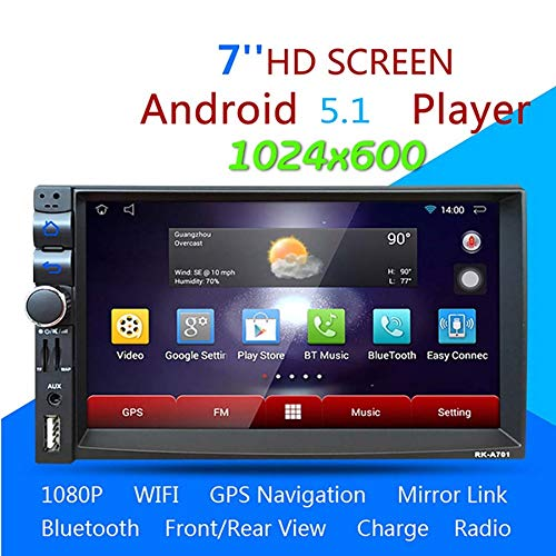 WWAVE 7-Zoll-Touch Screen Auto Stereo Media Player Android 4 4  Quadcore-GPS-Navigation Freisprecheinrichtung Bluetooth-MP5-Player