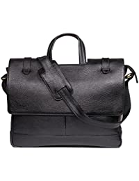 Raicon Black Color 15.6 Inch Laptop Office Bag In Genuine Leather