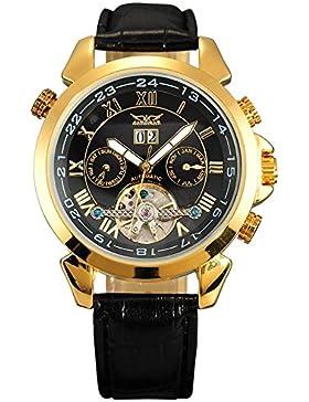 Gute Gold Ton Automatik Edelstahl Herren Armbanduhr Kalender